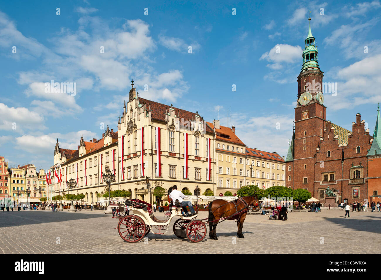 Market Square, Old Town, Wroclaw, Poland - Stock Image