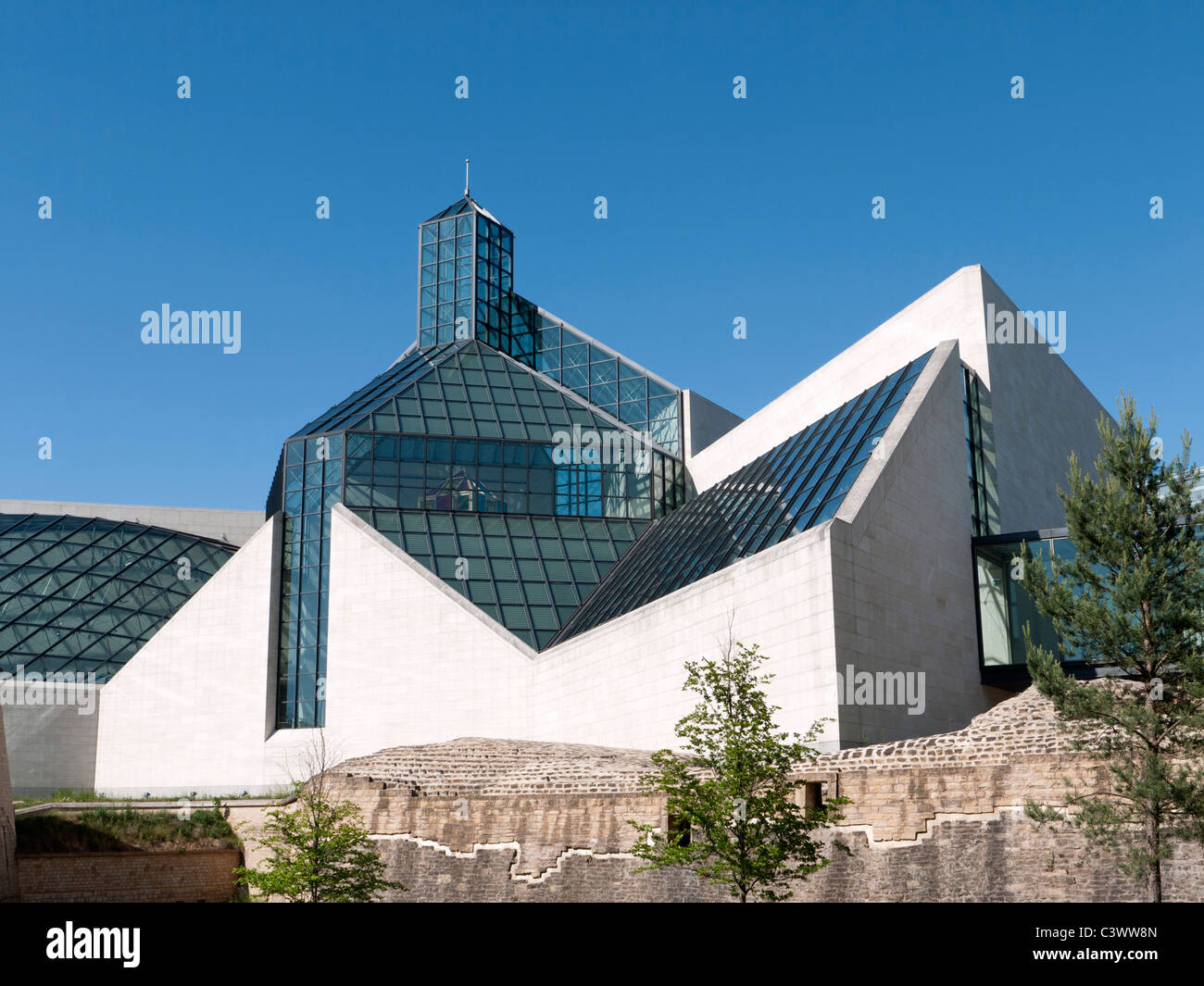 Modern Art Museum MUDAM or Musee d'Art Moderne Grand Duc Jean; Luxembourg City - Stock Image