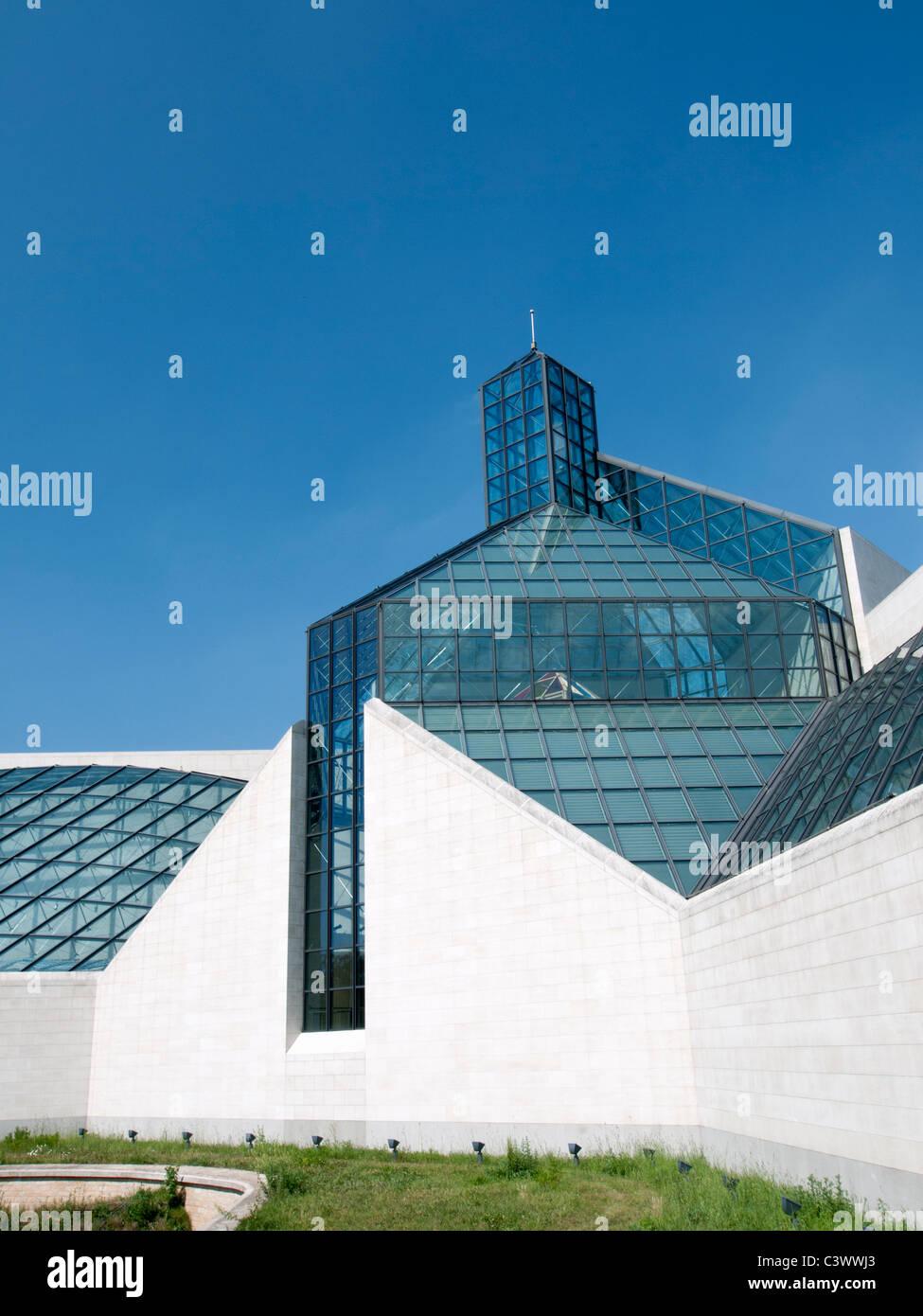 Modern Art Museum MUDAM; Musee d'Art Moderne Grand Duc Jean; Luxembourg City - Stock Image