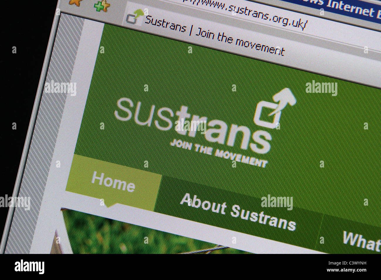 sustrans website sustainable transportation uk - Stock Image