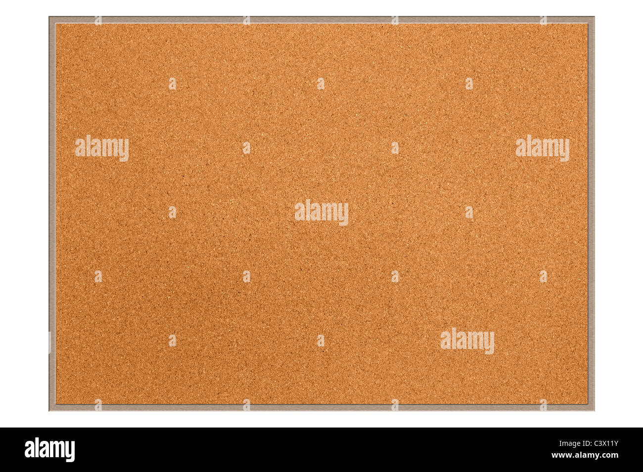 A new empty cork board for use as is or for designers to place copy or clip art on. - Stock Image