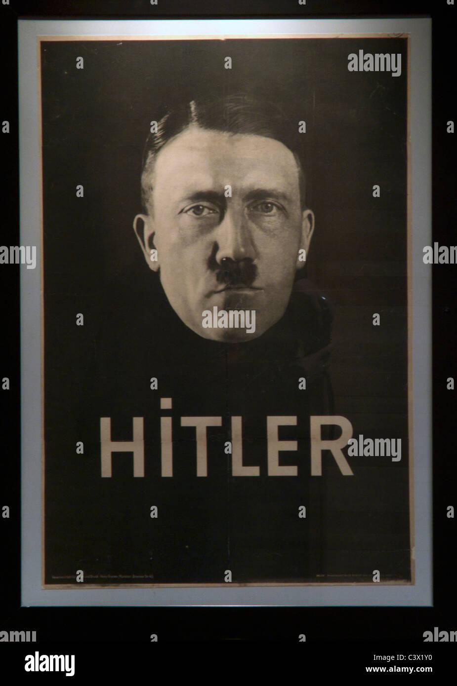 Hitler poster poster of Adolf Hitler pre-war - Stock Image