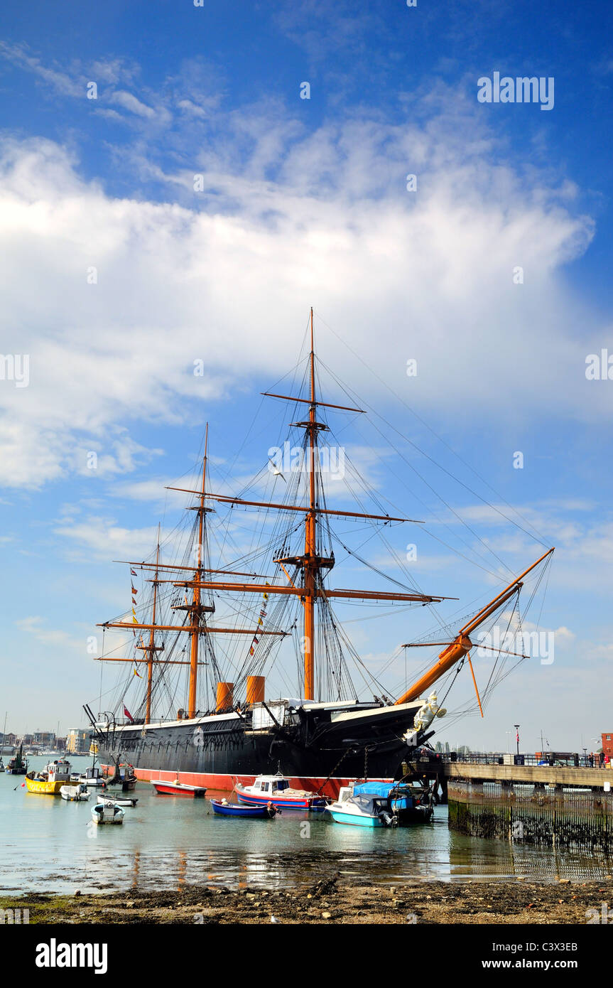 HMS Warrior at Portsmouth historic Dockyard - Stock Image
