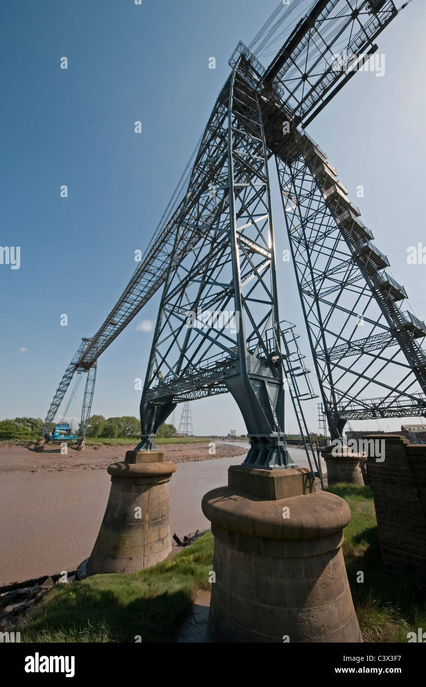 Transporter Bridge Newport South Wales over the River Usk - Stock Image