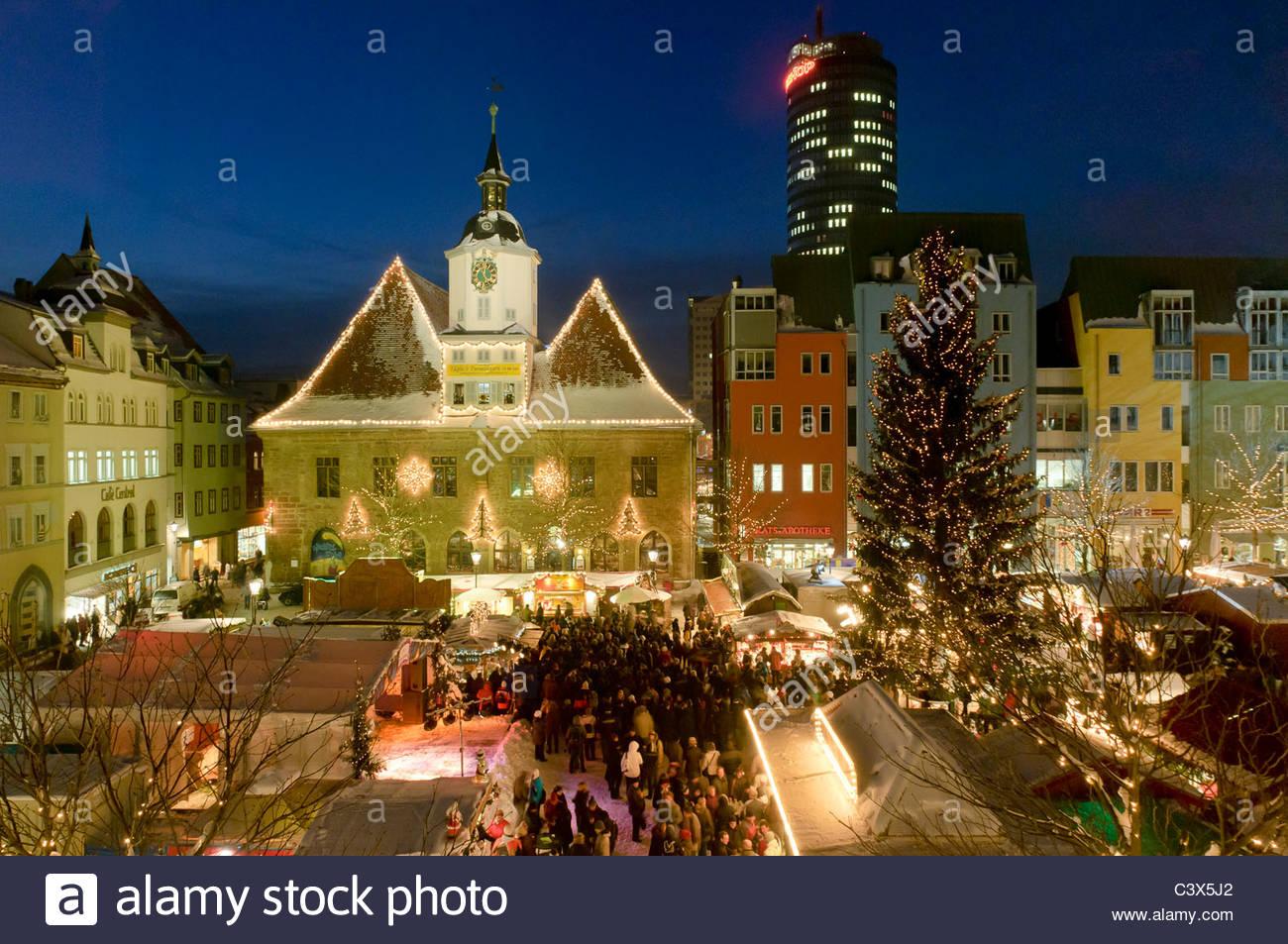 Weihnachtsmarkt W.Jenaer Weihnachtsmarkt Christmas Market Jena Thuringia Germany