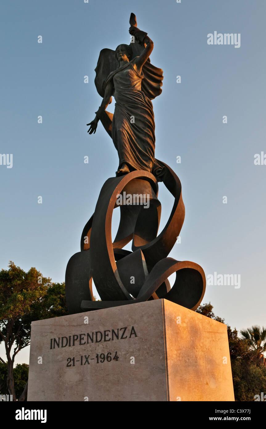 Independence Monument Maglio Gardens Floriana Valletta Malta - Stock Image