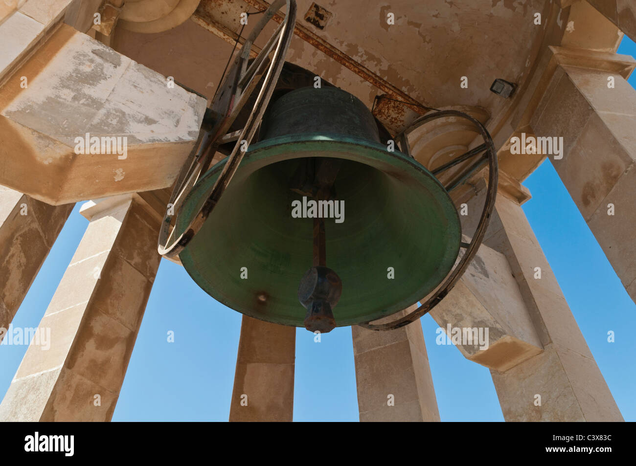 Siege Bell Memorial Valletta Malta - Stock Image