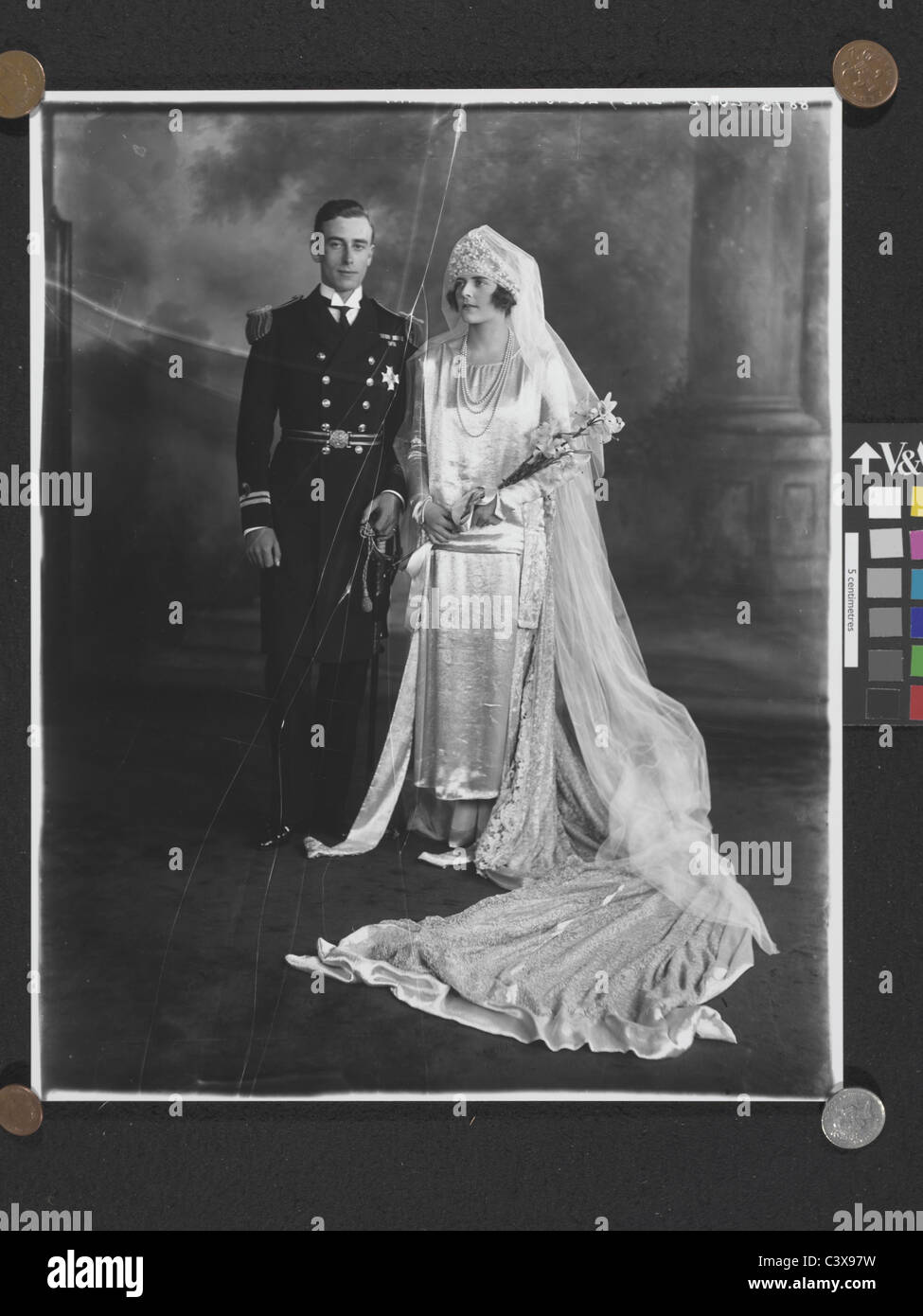 Lord and Lady Louis Mountbatten, photo Lafayette Portrait Studios. London, England, 1922 - Stock Image