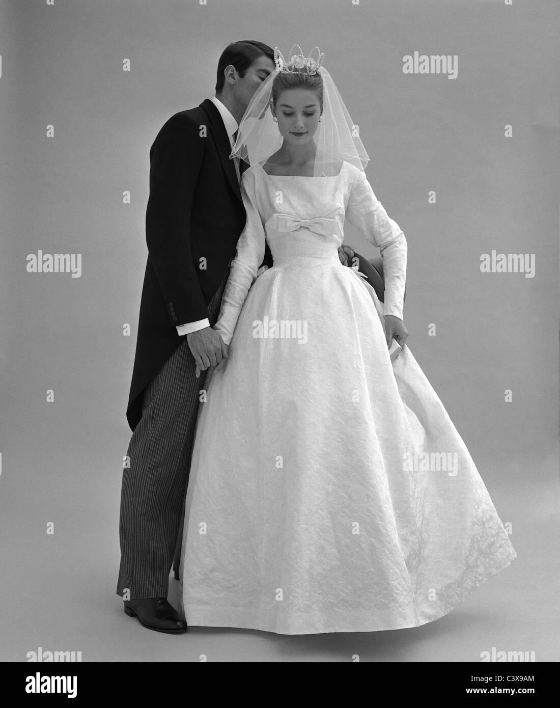 1960s Wedding Dresses.Wedding Dress Photo John French London Uk 1960s Stock Photo