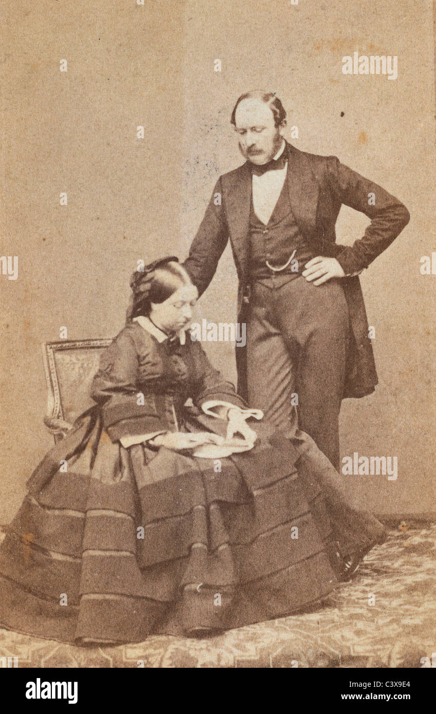 Queen Victoria and Prince Albert, photo John Jabez Edwin Mayall. London, England, 1861 - Stock Image