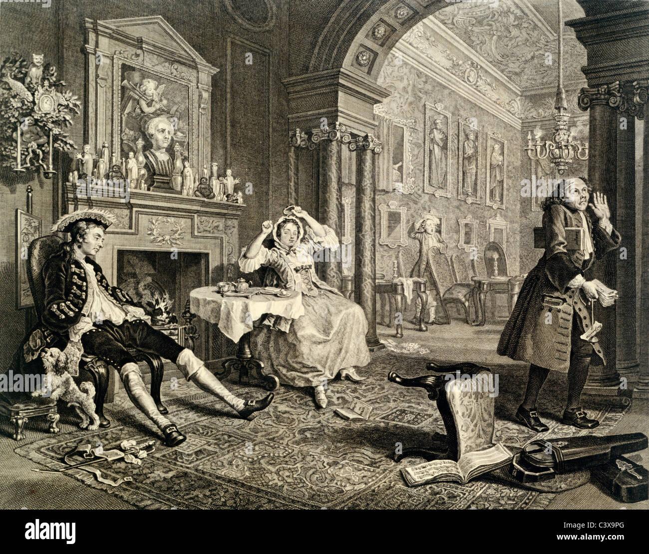 Wedding group, photo F. Driver. Bradford, England, 19th century - Stock Image