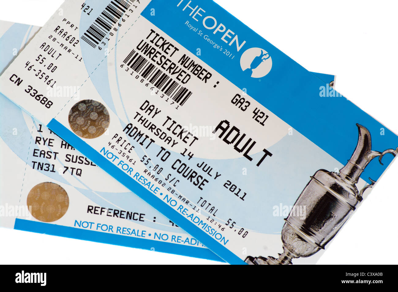 The Open Golf Championship Admission Tickets - Stock Image