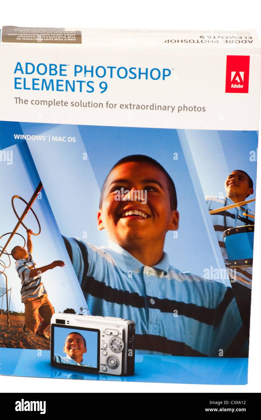 Adobe Photoshop Elements 9 - Stock Image