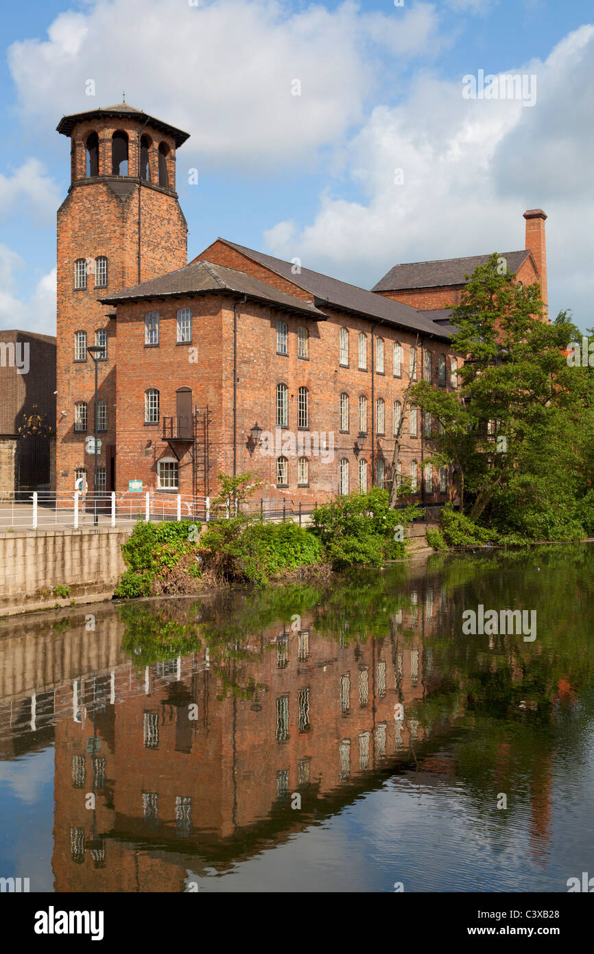 The old Silk Mill now derby industrial museum Derby city centre Derbyshire England GB UK Europe - Stock Image
