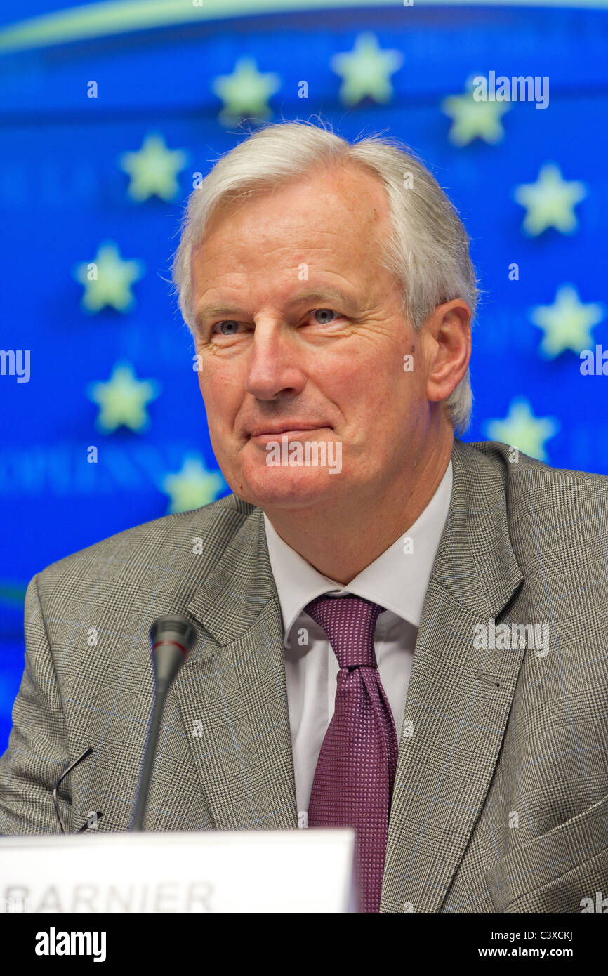 Michel Barnier, European Commissioner for Internal Market and Services - Stock Image