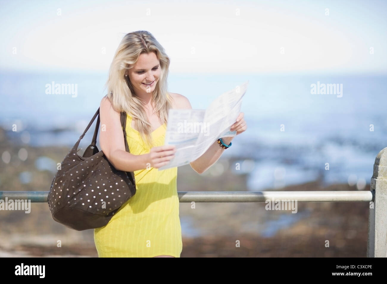Woman on a holyday trip - Stock Image