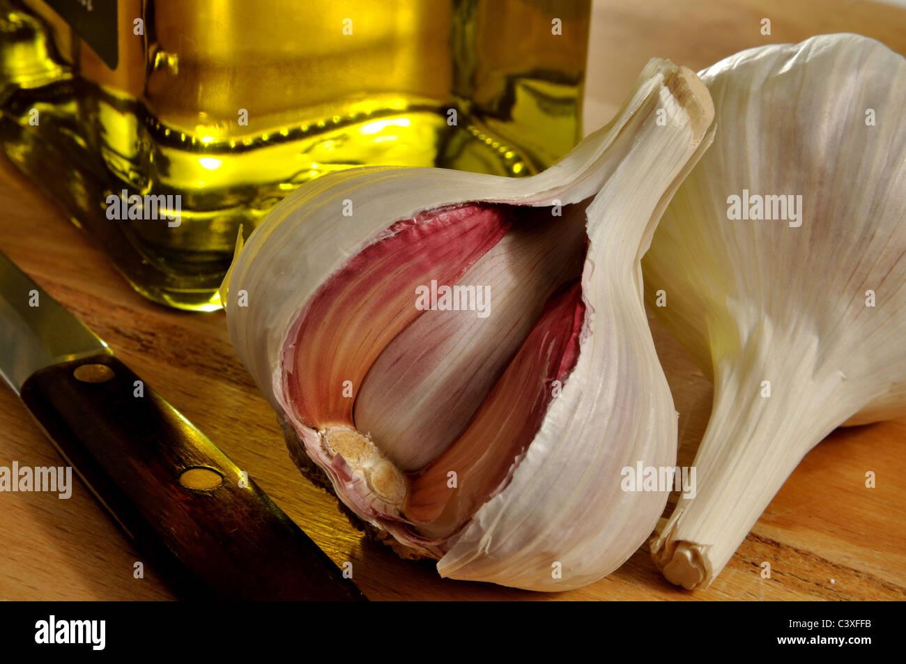 Garlic bulbs - Stock Image