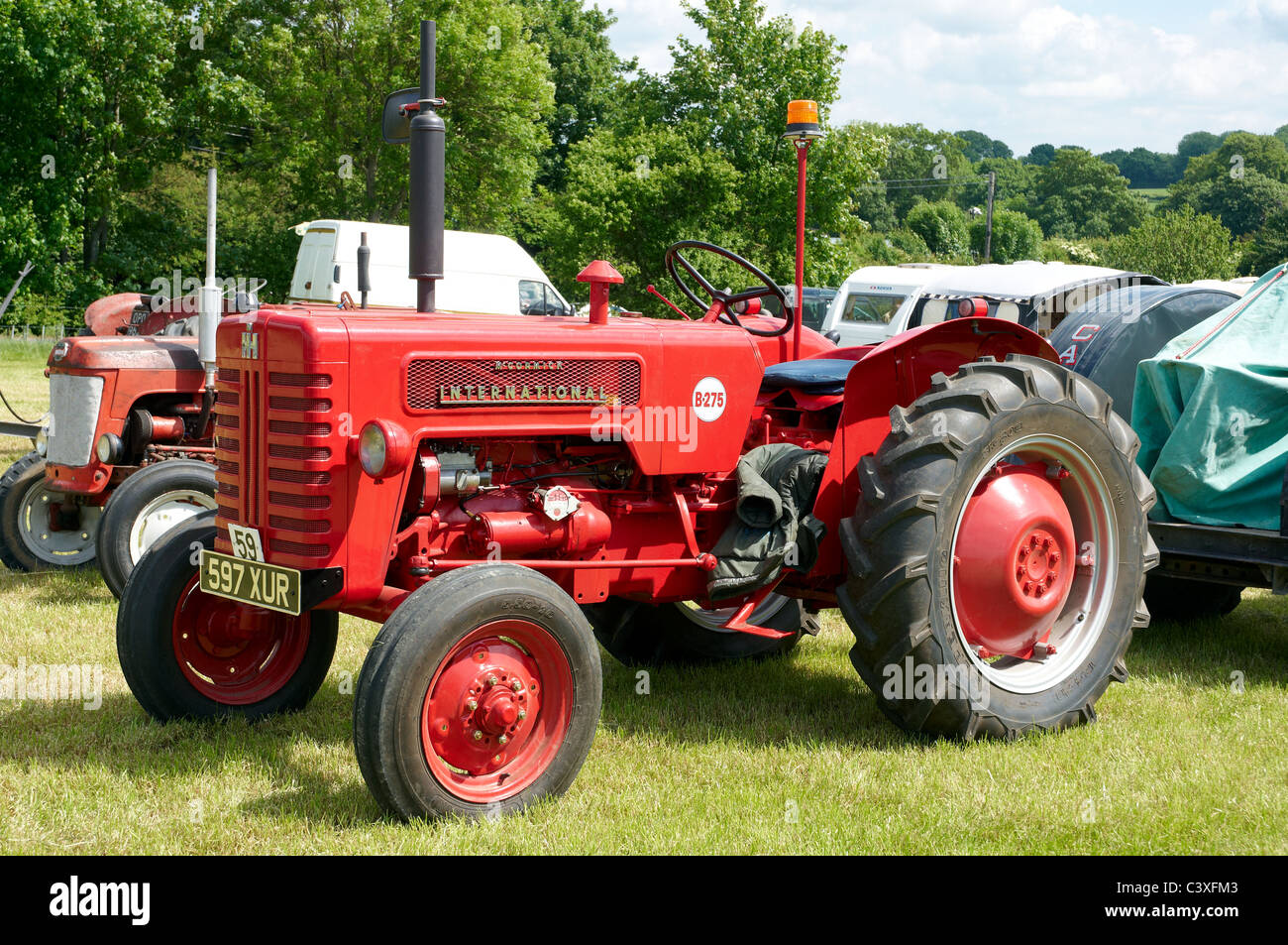 McCormick International B-275 tractor displayed at a steam and vintage fair  - Stock Image