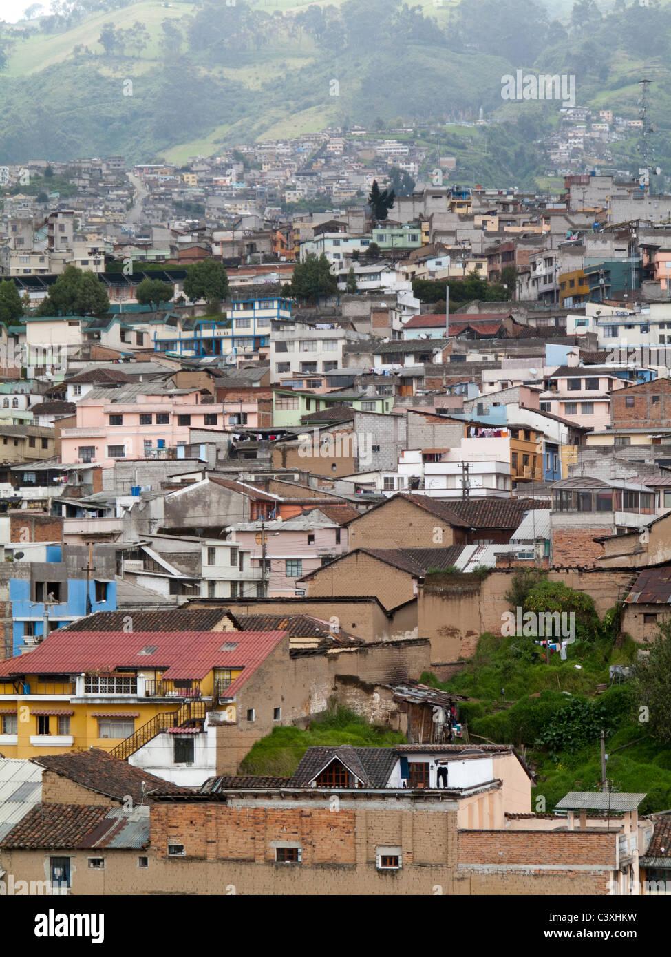 view of Quito, Ecuador - Stock Image