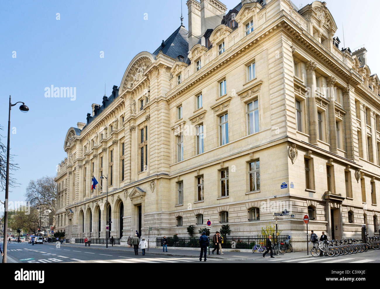 Entrance to the Sorbonne on Rue des Ecoles, Latin Quarter, Paris, France Stock Photo