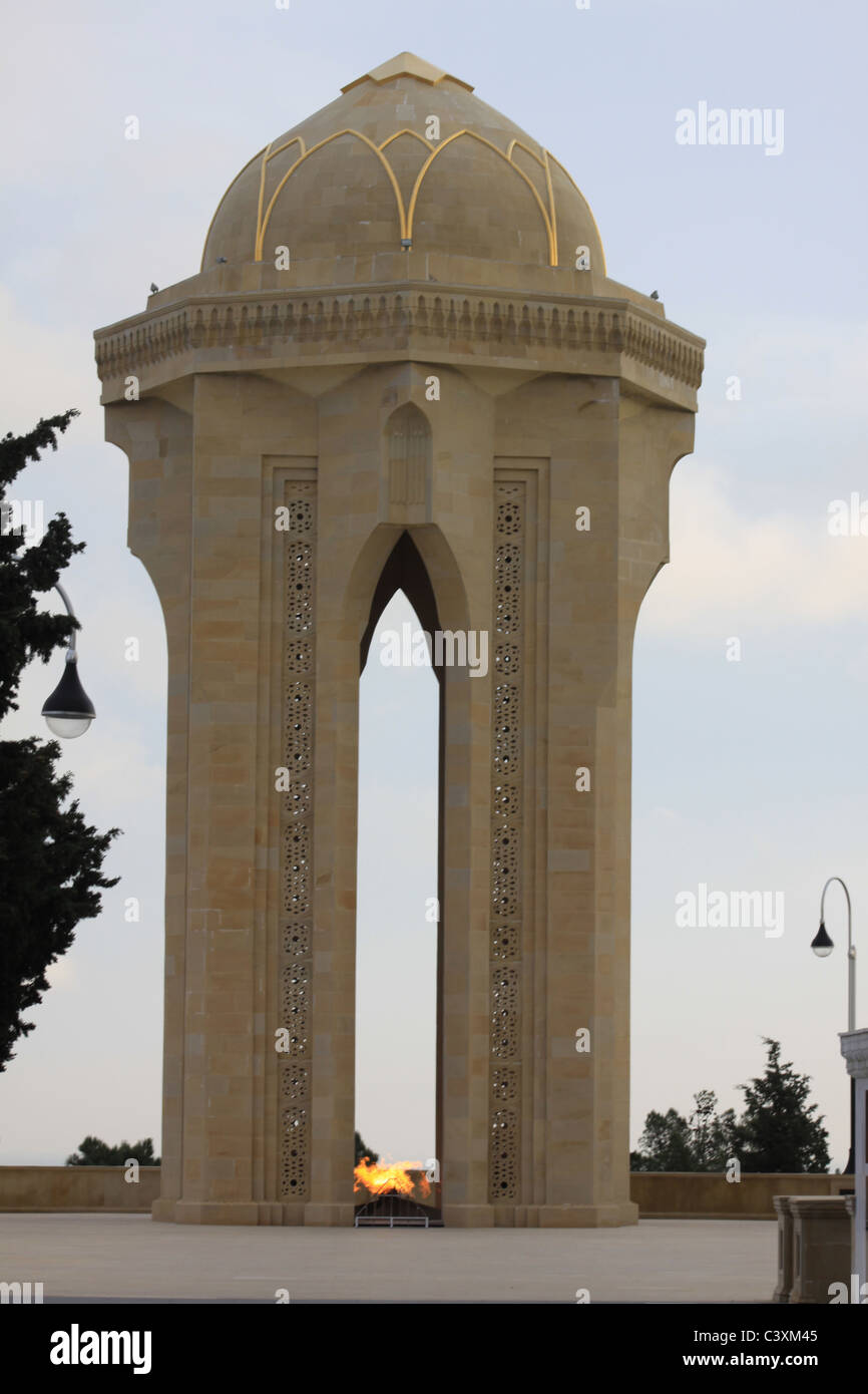 Azerbaijan Baku. Martyrs' Lane, Alley of Martyrs Stock Photo