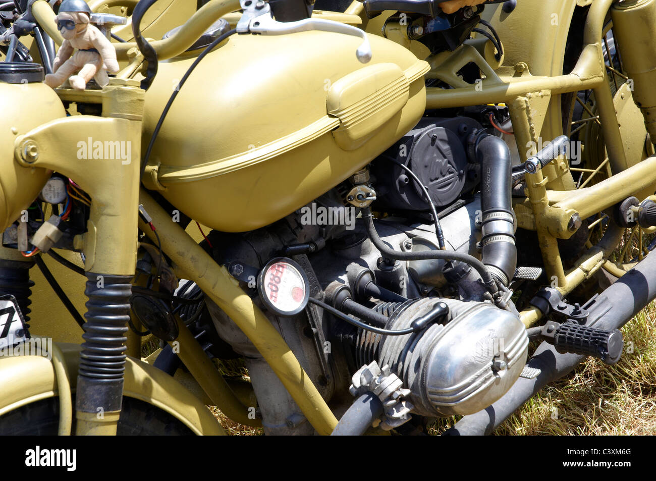 German Army (Wehrmacht) BMW R75 motorcycle and sidecar as used by the Afrika Corps. - Stock Image