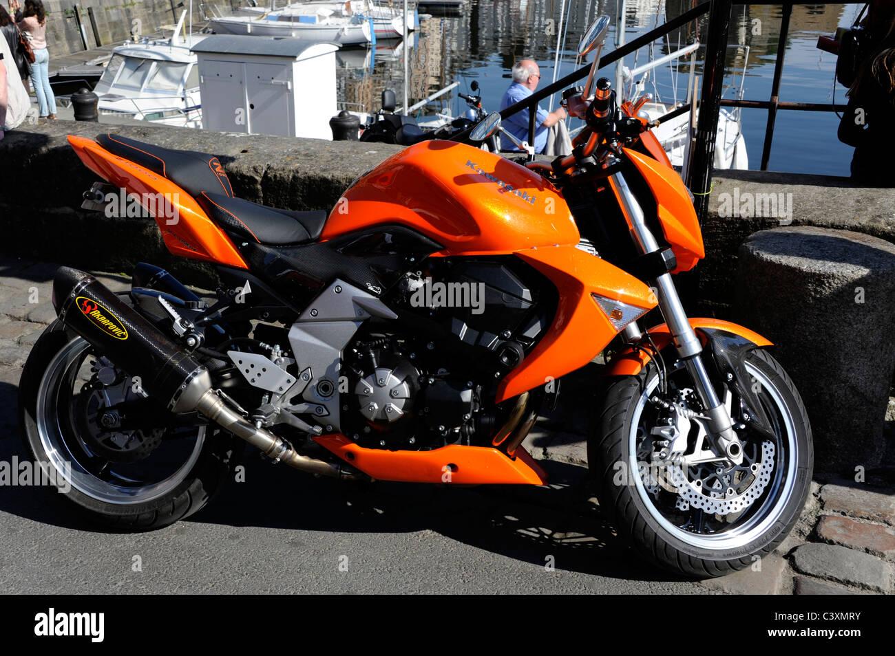 Orange Z1000 Kawasaki Motorcycle