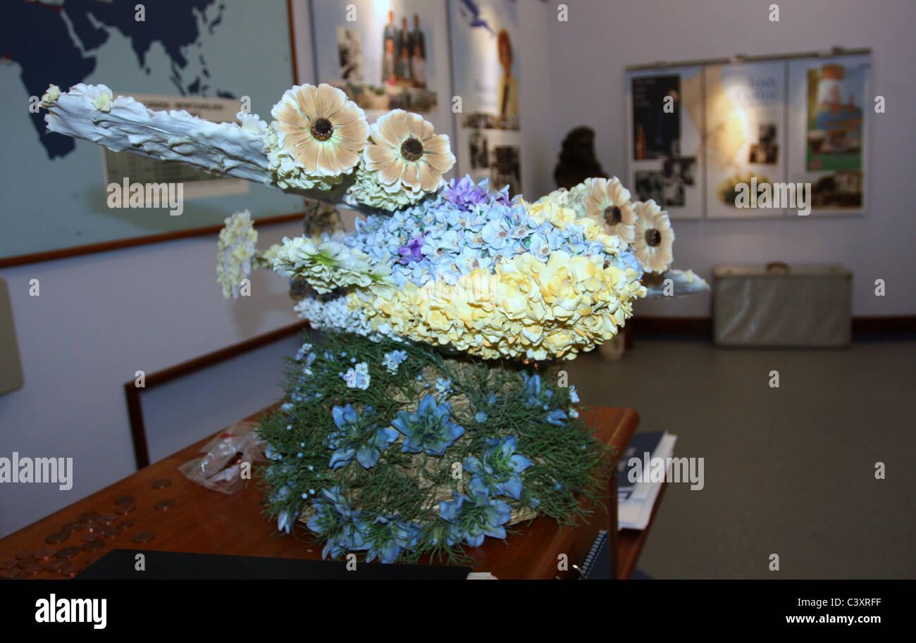 Flying Boat Flower Arrangement - Stock Image