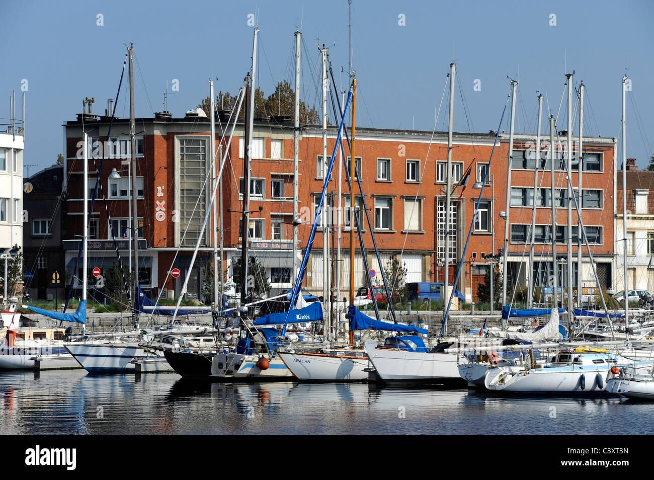 Dunkerque,Nord,Nord-Pas-de-Calais,France.Harbor for pleasure boats Stock Photo