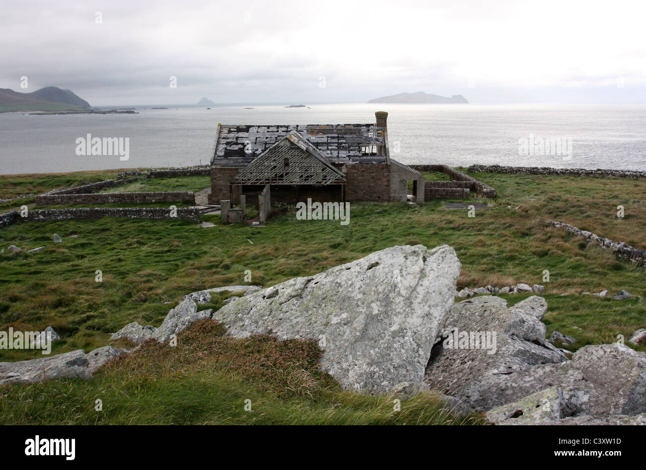 The Old School near Dingle which was part of the Ryans Daughter film set. Stock Photo