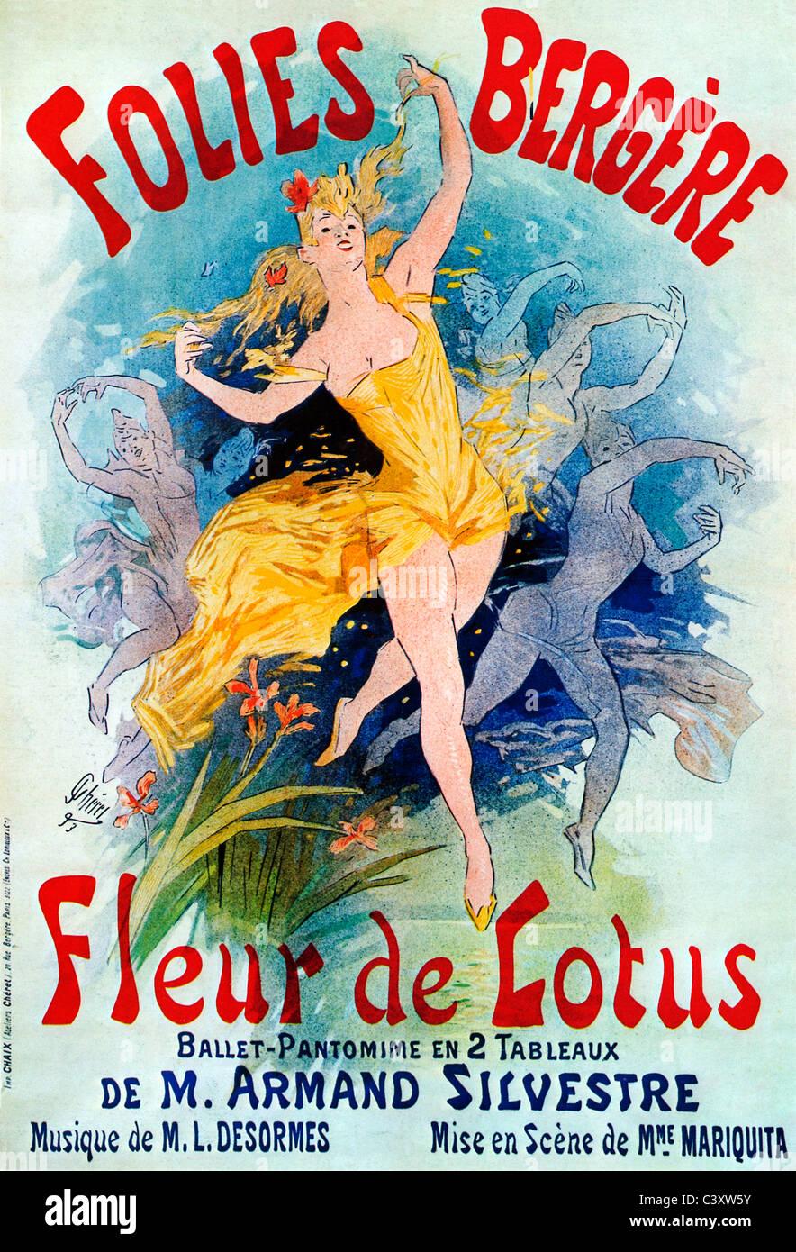 Fleur De Lotus Dijon jules cheret stock photos & jules cheret stock images - page