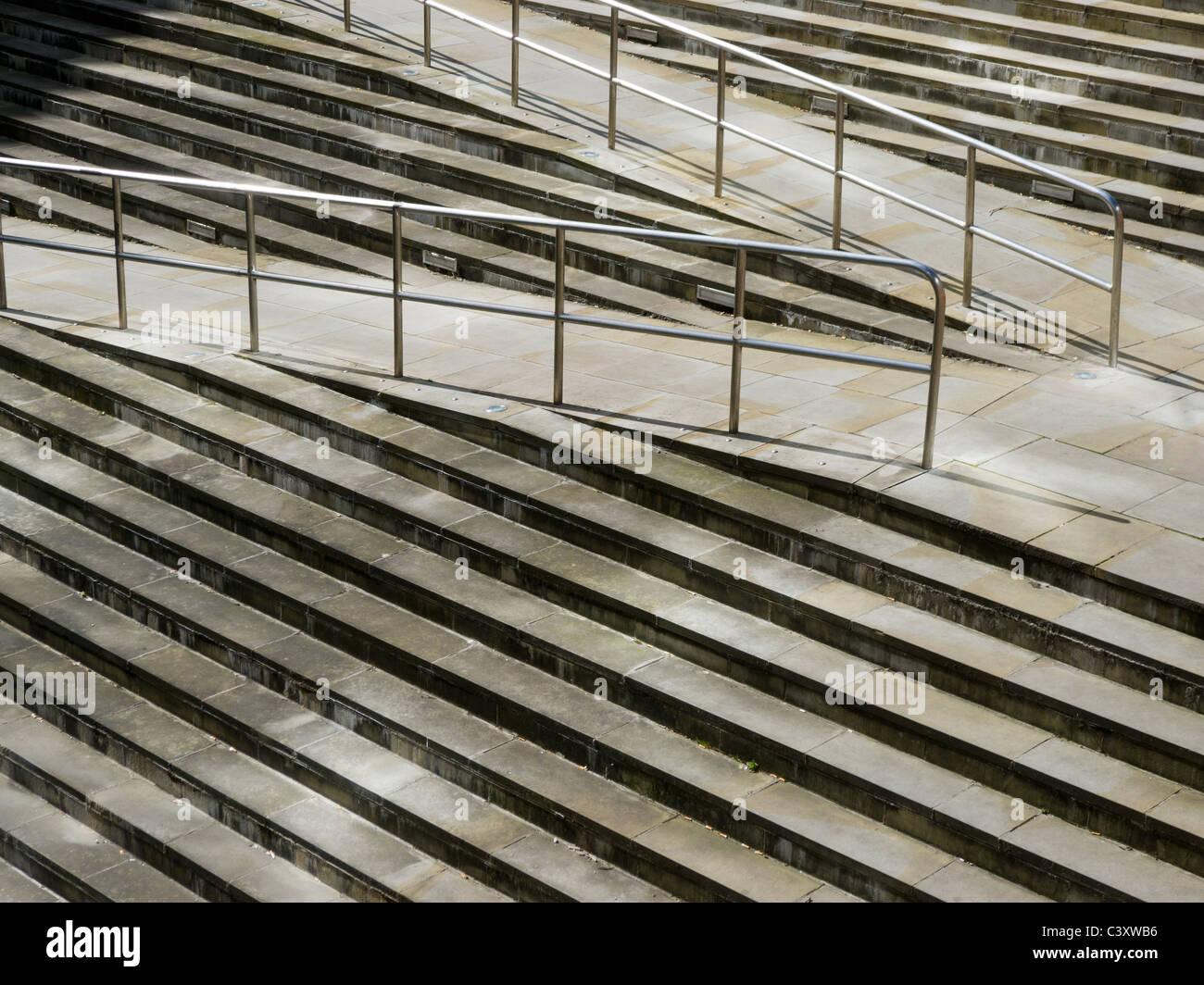Steps, Bridgewater Hall, Manchester - Stock Image