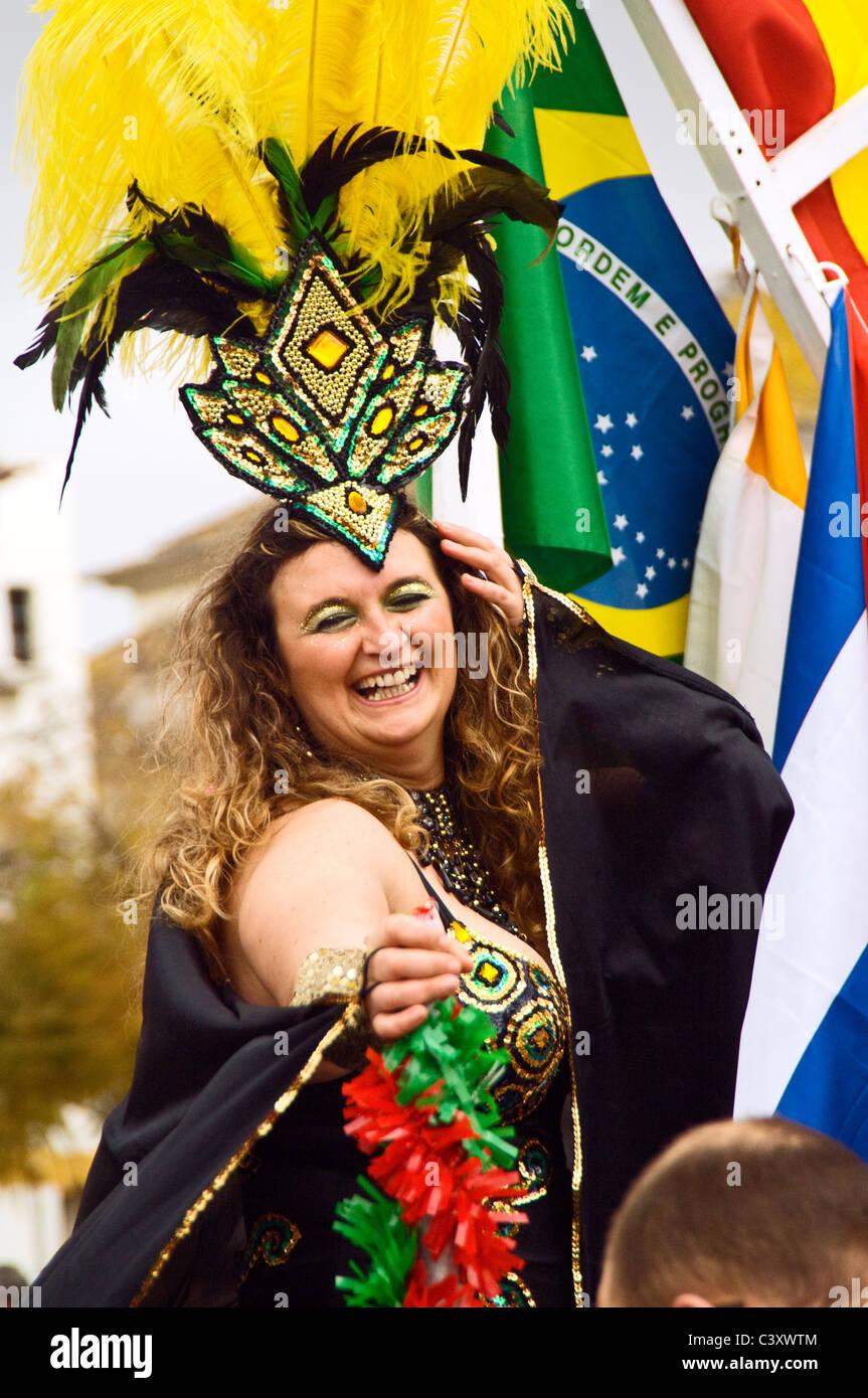 Faro festival participant , Algarve , Portugal - Stock Image