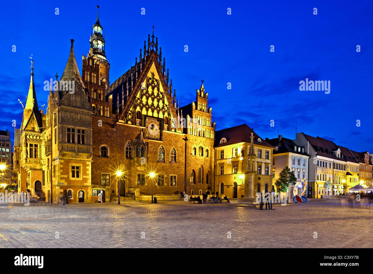 Town Hall, Old Town, Wroclaw, Poland - Stock Image