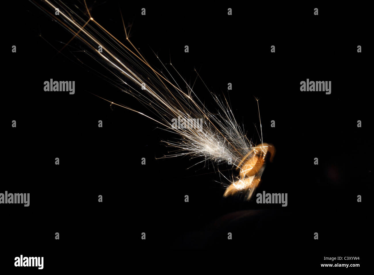 sparks from gas lighter - Stock Image