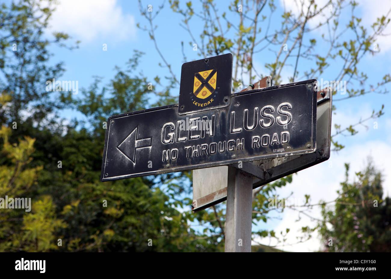 Glen Luss directional sign - Stock Image