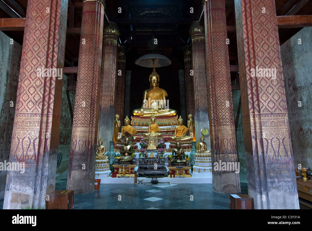 Wat Yai Suwannaram Petcheburi Thailand Stock Photo