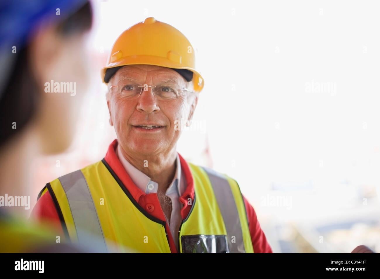 Portrait of a builder - Stock Image