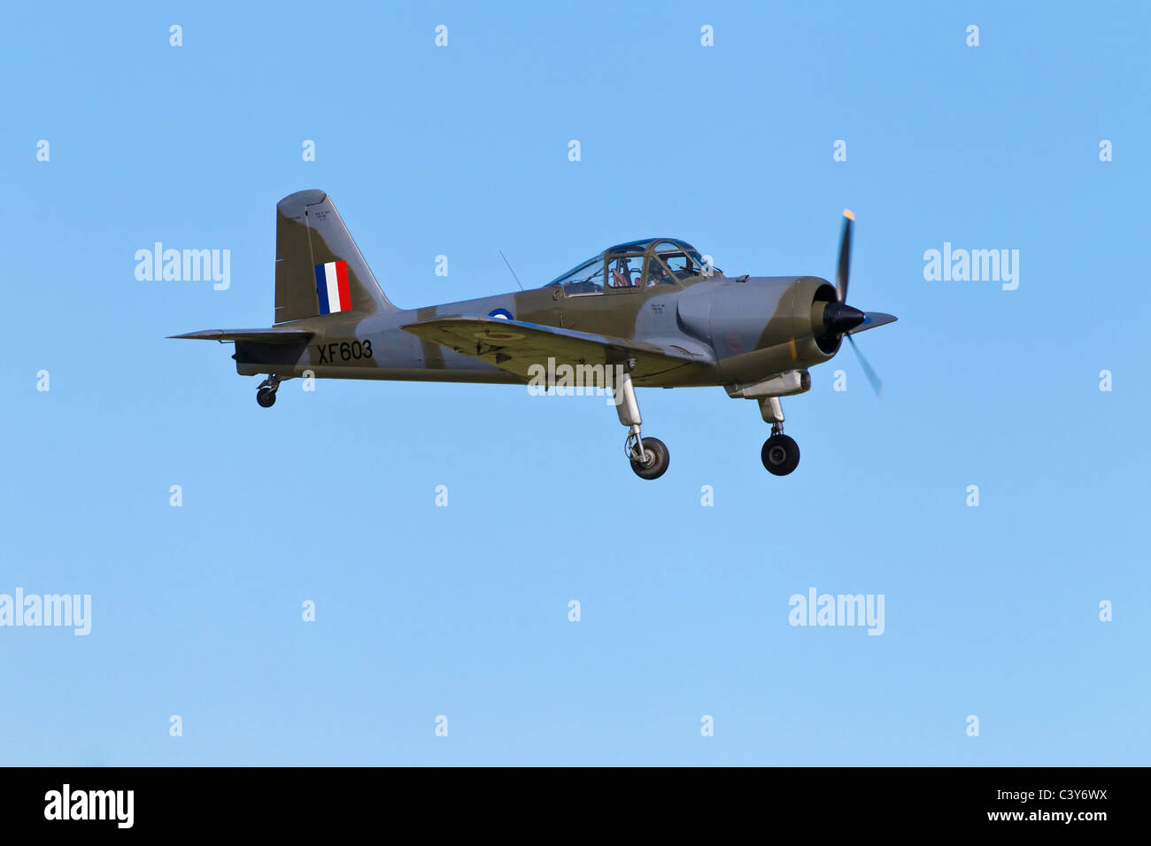 A veteran RAF training aircraft - The Hunting Percival Piston Provost T1 - Stock Image