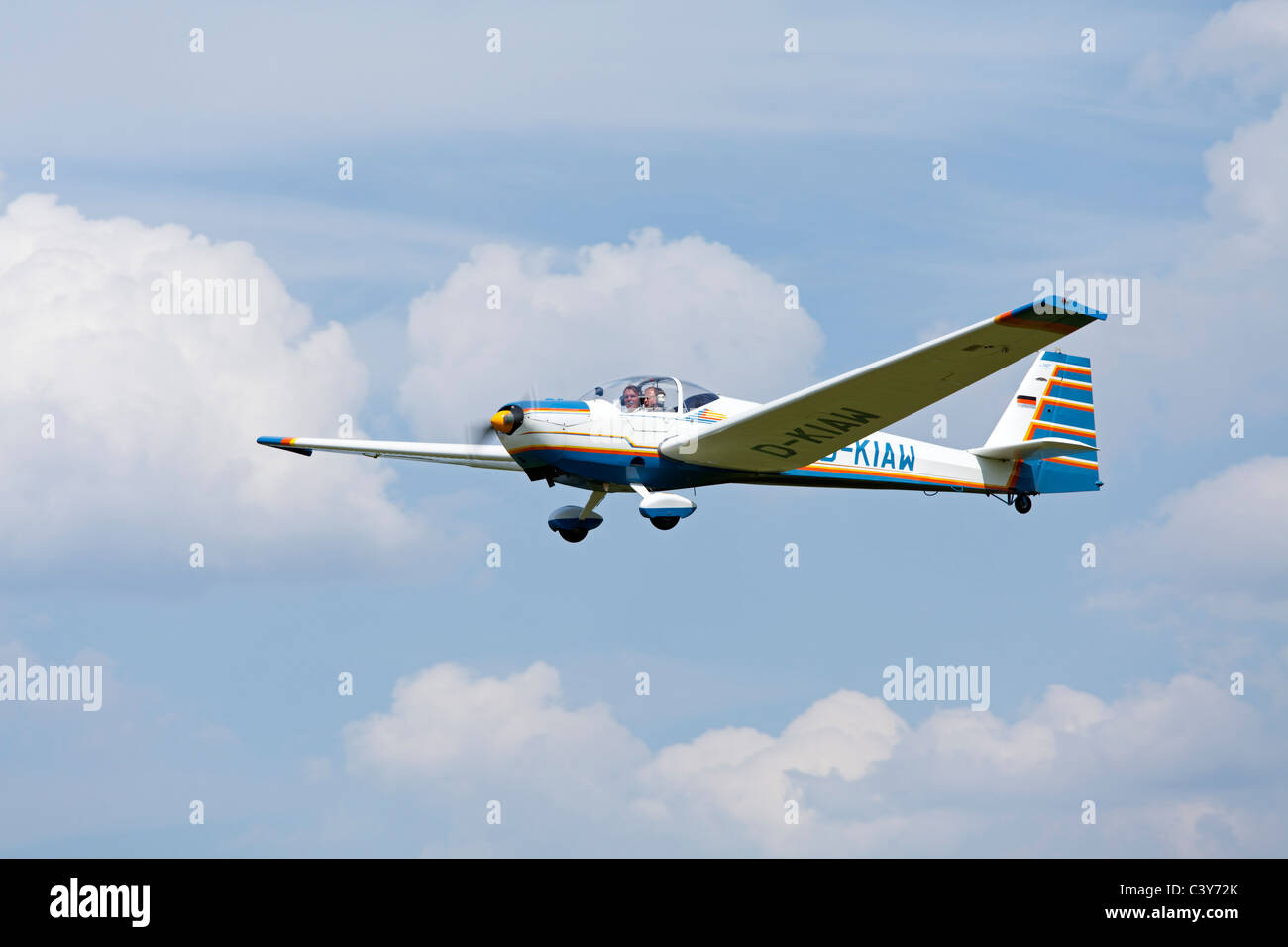 motor glider SF 25 at an airfield festival Lower Saxony, Germany - Stock Image