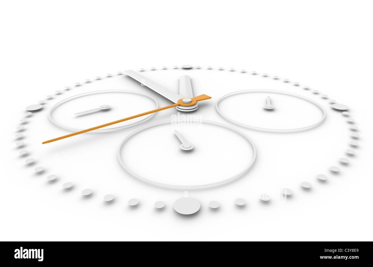 Time. Closeup of a Chronograph Watch - Stock Image