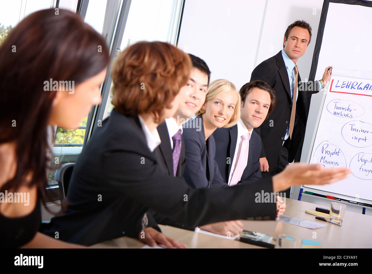 work job office team group people presentation appeal stock