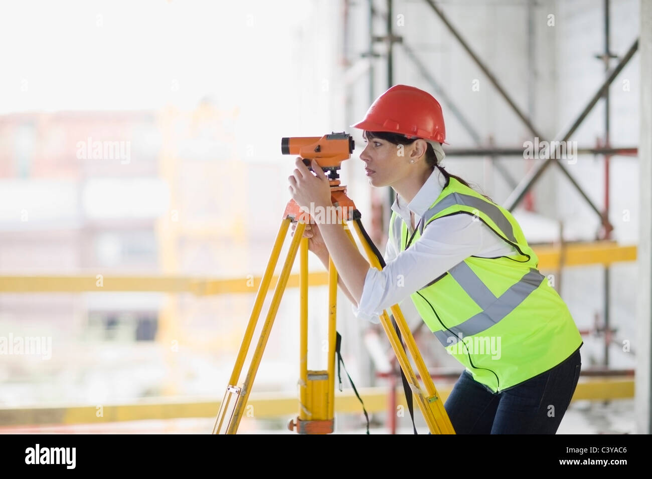 Architect doing measuring - Stock Image