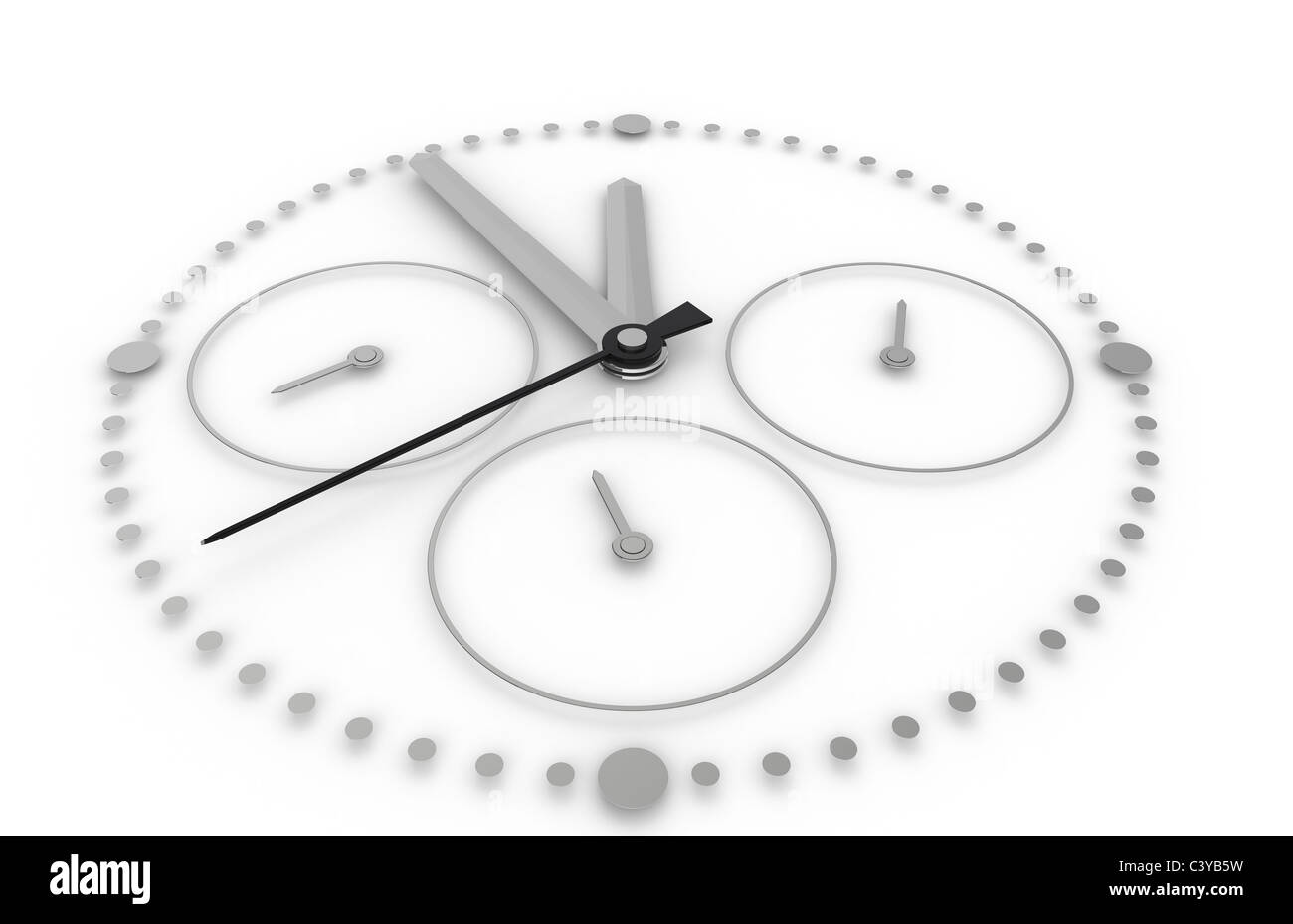 Time. Closeup on a Chronograph Watch - Stock Image