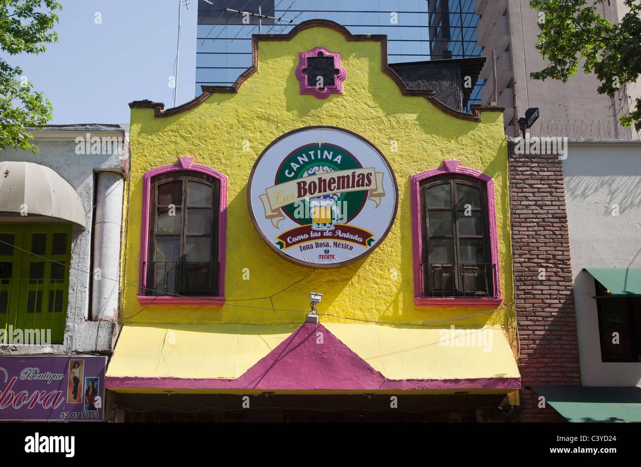 Cantina Las Bohemias Zona Rosa Mexico City - Stock Image