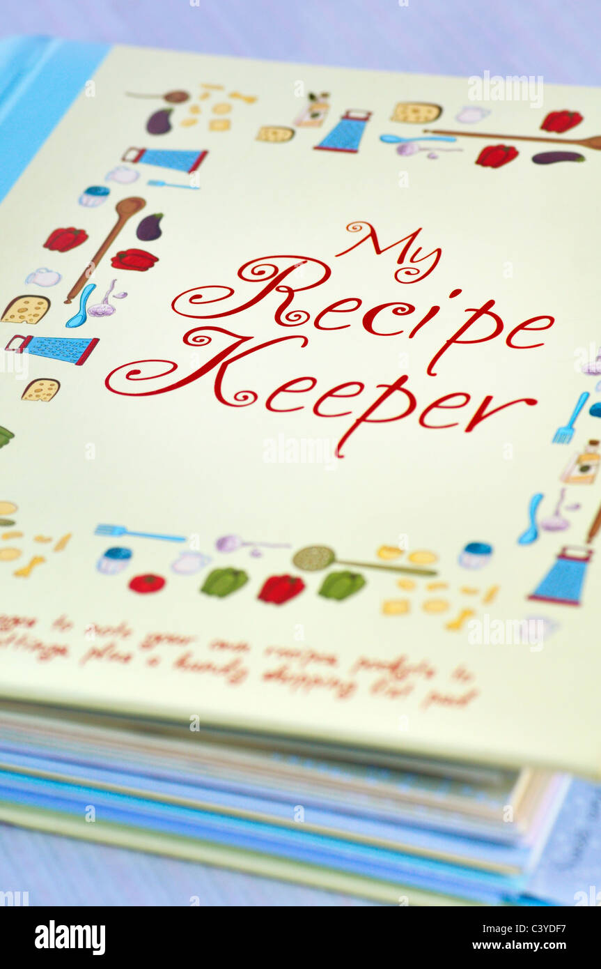 My Recipe Keeper cooking book - Stock Image