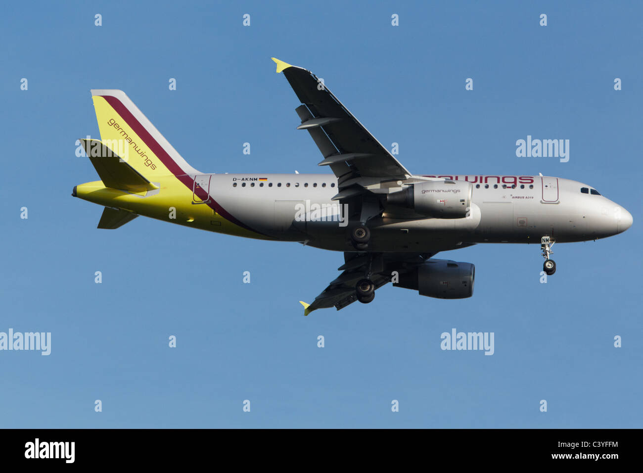 Germanwings Airbus A319-112 on final approach - Stock Image