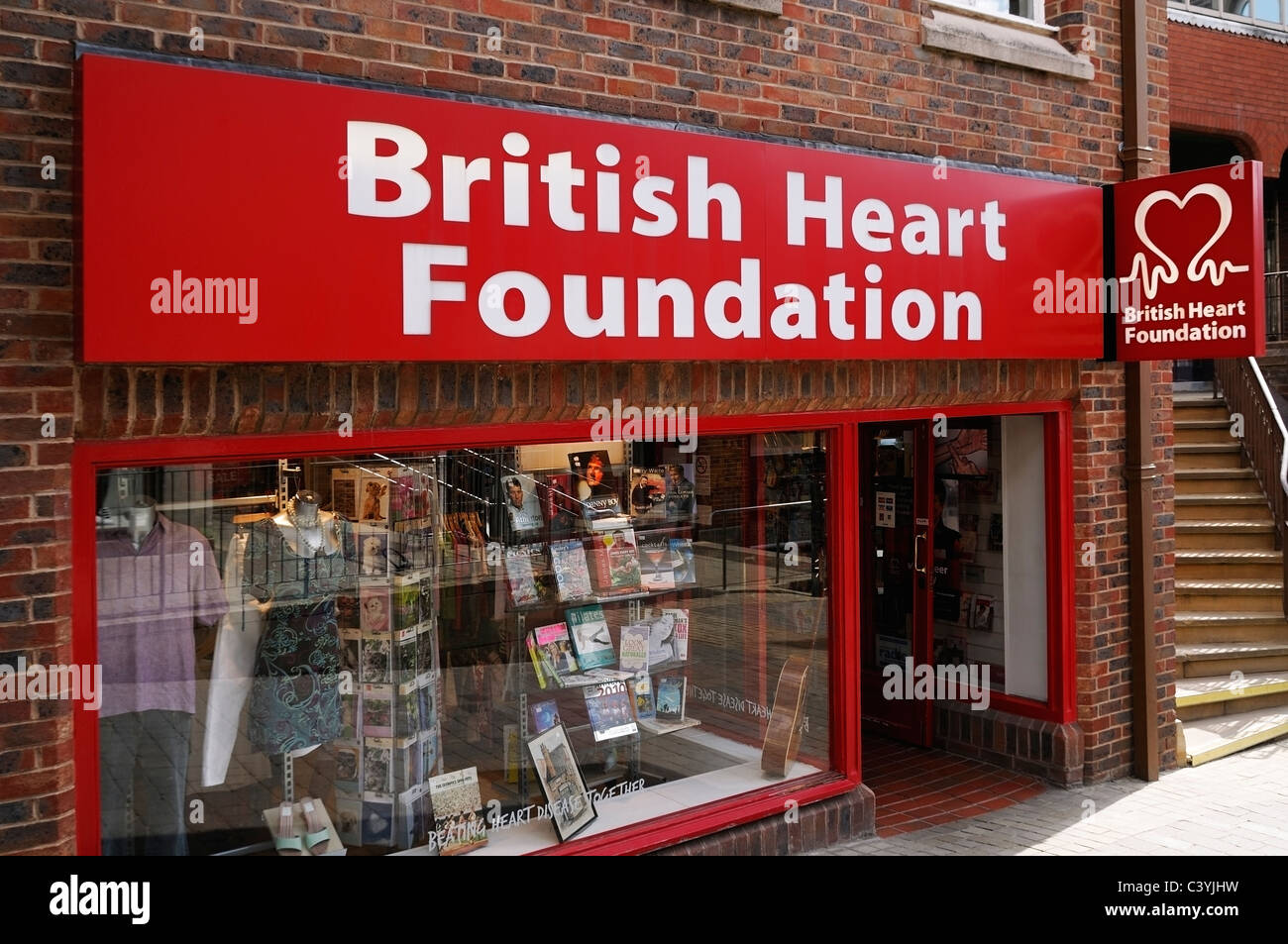British Heart Foundation Charity Shop, Windsor, Berkshire, United Kingdom. - Stock Image