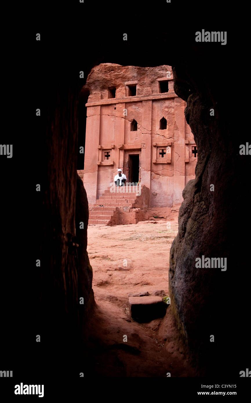 monolithic church, lalibela, ethiopia, africa - Stock Image