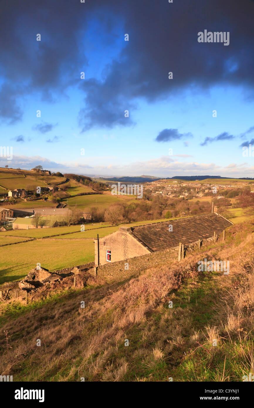 Washpit Mills, Holmfirth, West Yorkshire, England, UK. - Stock Image